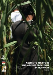 access to territory and asylum procedure in hungary 2012