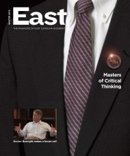Masters of Critical thinking - East Carolina University