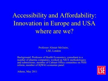 Affordability and Accessibility