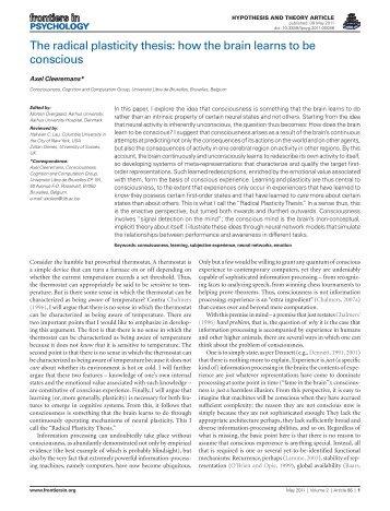 1.5M .pdf - Cognitive Science Research Unit - Université Libre de ...