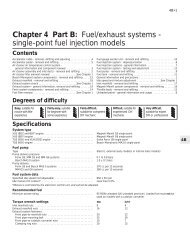 Chapter 4 Part B: Fuel/exhaust systems - single-point fuel injection ...