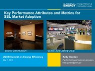Key Performance Attributes and Metrics for Solid State Lighting ...