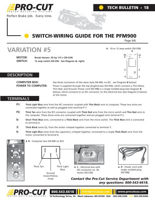 sb18 switch-wiring guide for the pfm900 - pro-cut usa on-car
