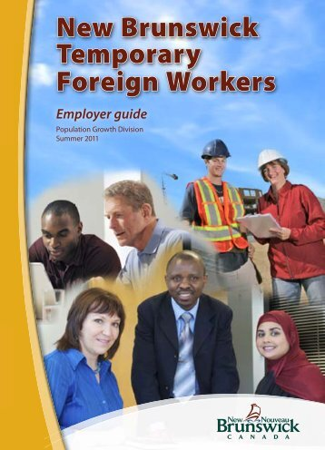 New Brunswick Temporary foreign workers; Employer guide