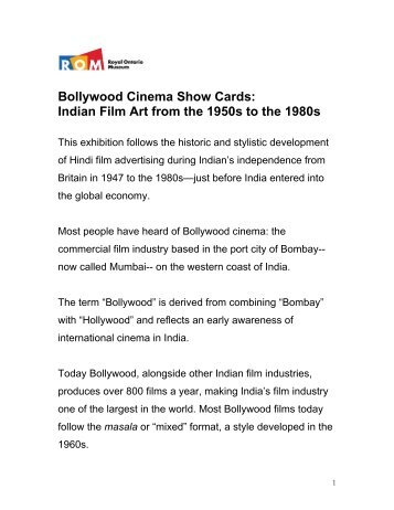 Bollywood Cinema Show Cards: Indian Film Art from the 1950s to ...