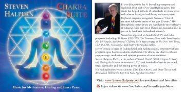 PDF liner notes - Inner Peace Music Steven Halpern