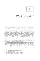 What is Health? - Polity