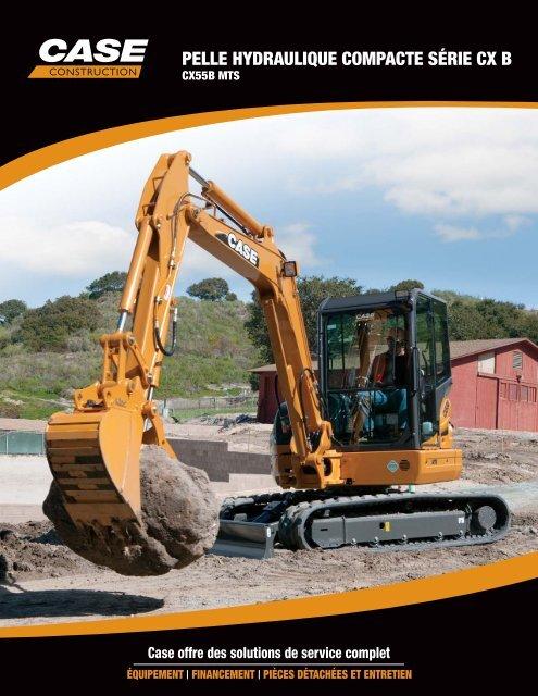 PELLE HYDRAULIQUE COMPACTE SÉRIE CX B - Case Construction