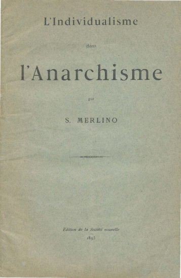 l'Anarchisme - Centro Studi Francesco Saverio Merlino