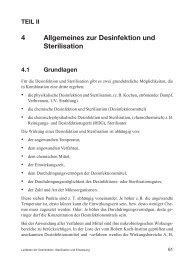 4 Allgemeines zur Desinfektion und Sterilisation