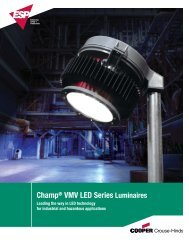 Champ® VMV LED Series Luminaires - Safeexit A/S