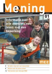 Mening opzet maart 05 - MEE Zuidoost Brabant