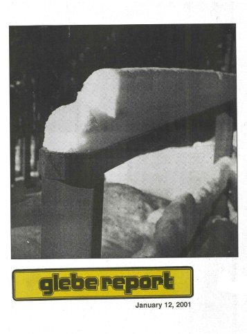 Glebe Report - Volume 31 Number 1 - January 12 2001