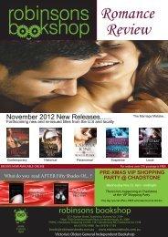 Romance Review - Robinsons Bookshop