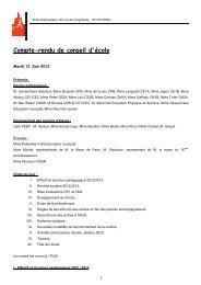CR Conseil Ecole du mardi 12 juin 2012 - Ecole élémentaire ...