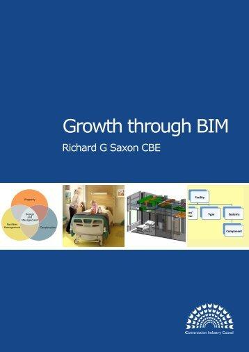 Growth through BIM - Institution of Civil Engineers