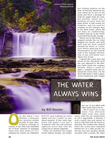 28-30 The Water Always Wins:Master Galley - Plain Truth Ministries