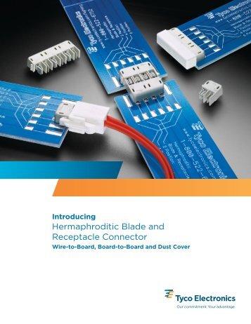 Hermaphroditic blade rec conn - Welt Electronic
