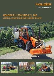 Holder F / l 770 und F / l 780