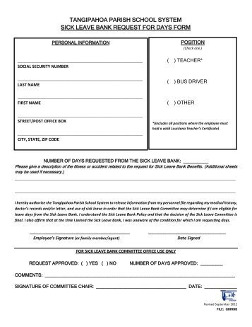 A.I.S.D. CATASTROPHIC SICK LEAVE BANK APPLICATION THE ...