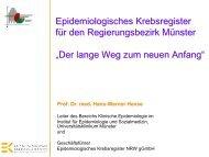 Prof. Dr. Hans-Werner Hense: 20 Jahre Epidemiologisches ...