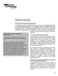 Dystrophie myotonique (aussi appelée maladie de Steinert)