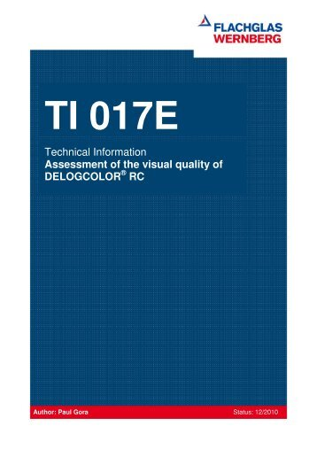 Technical information visual quality of DELOGCOLOR® RC