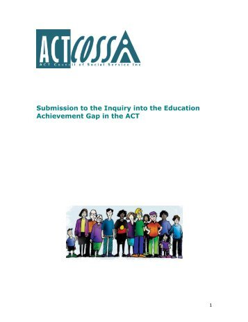 Submission to the Inquiry into the Education Achievement Gap in the ...