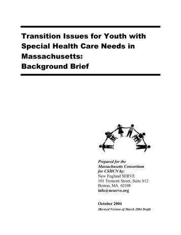 Transition Issues for Youth with Special Health Care Needs in ...