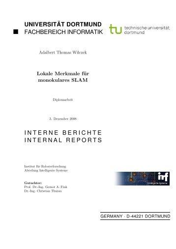 Lokale Merkmale für monokulares SLAM - Gernot A. Fink