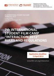 "7th INTERNATIONAL STUDENT FILM CAMP ""INTERACTION 2012 ..."