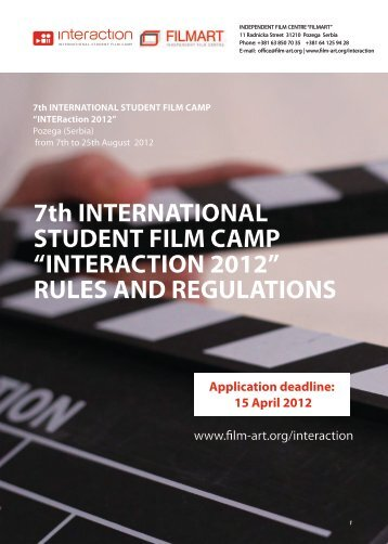 "7th INTERNATIONAL STUDENT FILM CAMP ""INTERACTION 2012 ..."