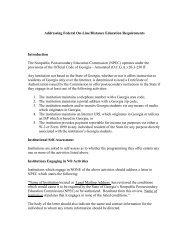 Addressing Federal On-Line/Distance Education ... - Gnpec.org