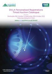 DVLA Personalised Registrations Timed Auction ... - DVLA Auctions