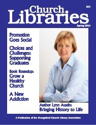 CL winter 09-10 - Evangelical Church Library Association