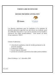 Bourse 1re génération_formulaire de ... - Collège Boréal