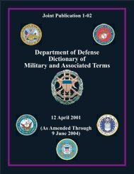 Department of Defense Dictionary of Military and ... - Modern Prepper