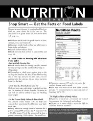 Shop Smart Get the Facts on Food Labels - Wellness