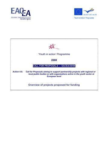 Compendium action 4.6 - 2008 - EACEA