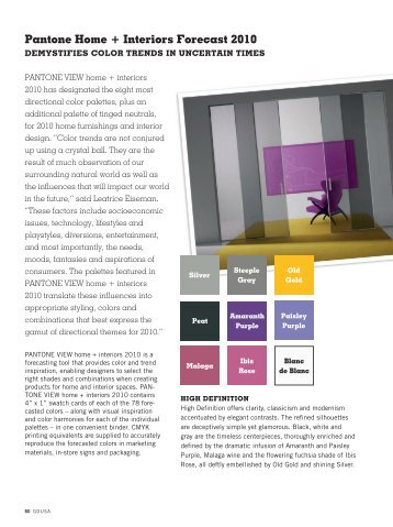 download the pantone home + interiors forecast - Graphic Design USA