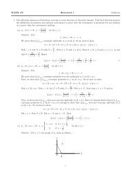 MATH 172 Homework 1 Solutions 1. The following sequences of ...