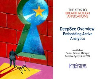DeepSee Overview - InterSystems Benelux