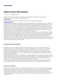 Marktübersicht für Managed Print Services