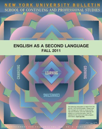 ENGLISH AS A SECOND LANGUAGE - School of Continuing and ...