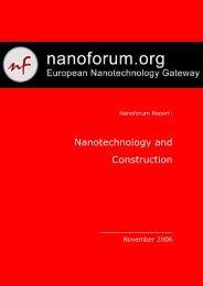 Nanotechnology and Construction