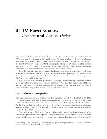 8 TV Power Games: Friends and Law & Order - Luiscabral.net