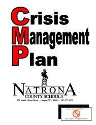 Natrona County Crisis Management Plan - Casper College