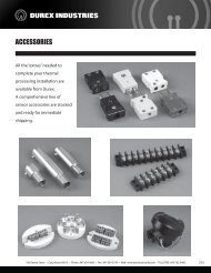 Sensor Accessory Catalog / Specifications - Durex Industries