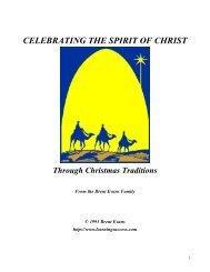 CELEBRATING THE SPIRIT OF CHRIST Through Christmas ...