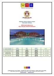 Delphin Deluxe Resort fiyat listesi için tıklayınız